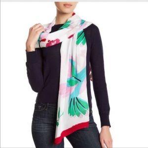 Kate spade bird scarf NWT